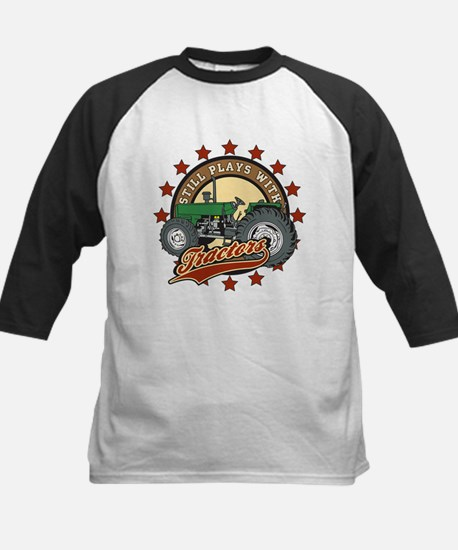 Still Plays with Tractors Gre Kids Baseball Jersey