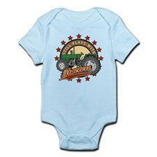Still Plays with Tractors Green Infant Bodysuit