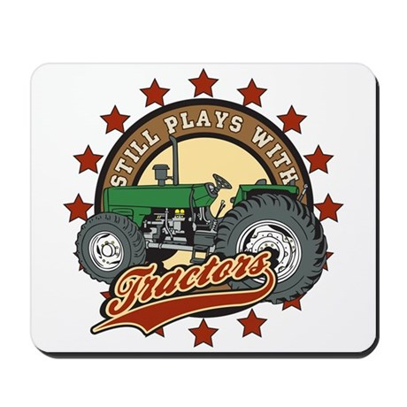 Still Plays with Tractors Green Mousepad