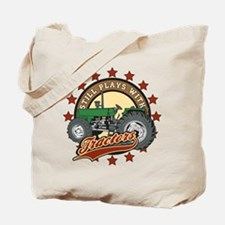 Still Plays with Tractors Green Tote Bag