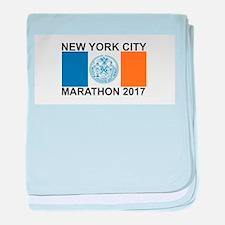 2017 New York City Marathon baby blanket