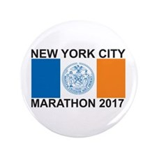 "2017 New York City Marathon 3.5"" Button"
