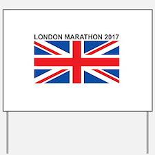 2017 London Marathon Yard Sign