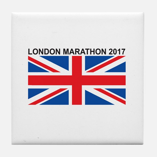 2017 London Marathon Tile Coaster