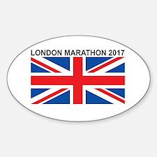 2017 London Marathon Sticker (Oval)
