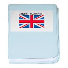 London Marathon baby blanket