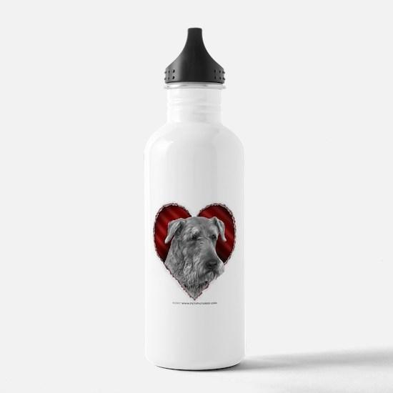 Airedale Terrier Valentine Sports Water Bottle
