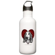 Basset Hound Valentine Sports Water Bottle