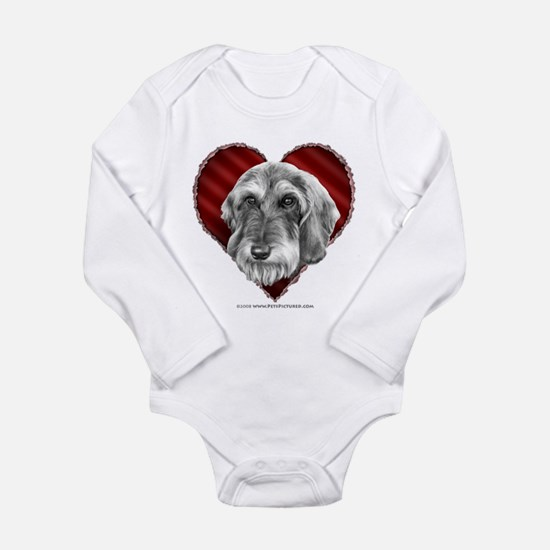 Wire-haired Dachshund Valenti Long Sleeve Infant B