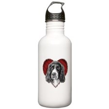 Springer Spaniel Valentine Sports Water Bottle