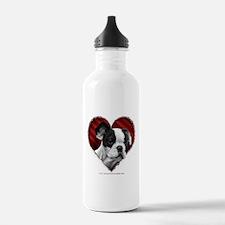 Unique Valentines day bulldog Water Bottle