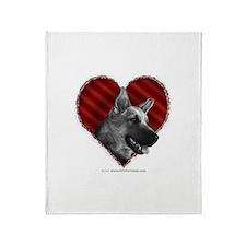 German Shepherd Valentine Throw Blanket