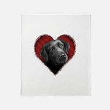 Labrador Retriever Valentine Throw Blanket