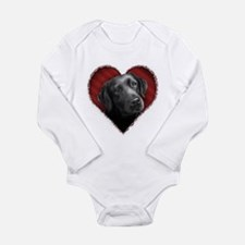Labrador Retriever Valentine Long Sleeve Infant Bo