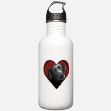 Labrador Retriever Valentine Sports Water Bottle