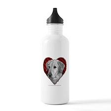 Yellow Lab Valentine Water Bottle