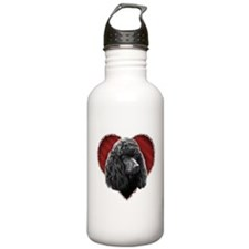 Poodle Valentine Sports Water Bottle