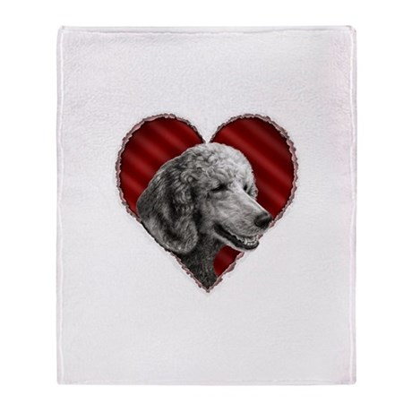 Poodle Valentine Throw Blanket