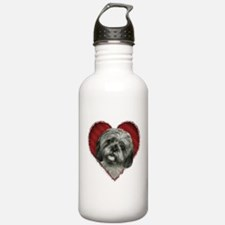 Shih Tzu Valentine Sports Water Bottle