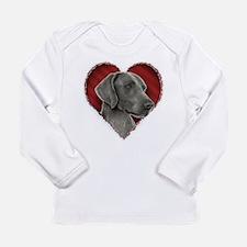Weimeraner Valentine Long Sleeve Infant T-Shirt