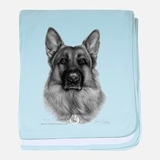 Rikko, German Shepherd, Polic baby blanket