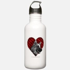 German Shepherd Heart Water Bottle