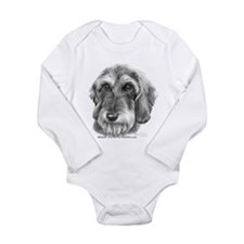 Unique Dog pencil drawing Long Sleeve Infant Bodysuit