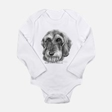 Unique Wire hair Long Sleeve Infant Bodysuit