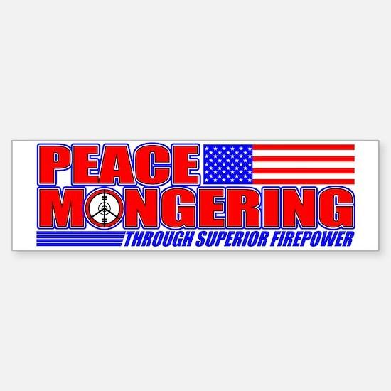 Peacemonger Bumper Bumper Bumper Sticker
