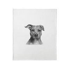 American Pit Bull Terrier Throw Blanket
