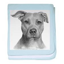 American Pit Bull Terrier baby blanket