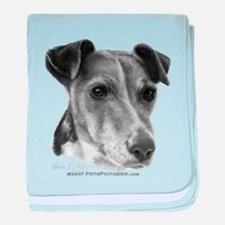 Smooth Fox Terrier baby blanket
