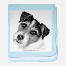 Jack (Parson) Russell Terrier baby blanket