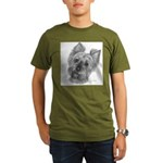 Yorkshire Terrier Organic Men's T-Shirt (dark)