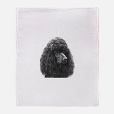 Black or Chocolate Poodle Throw Blanket