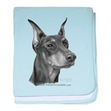 Doberman Pinscher baby blanket