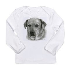 Lindsay - Yellow Lab Mix Long Sleeve Infant T-Shir