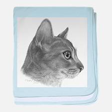 Abysinnian Cat baby blanket