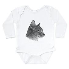 Abysinnian Cat Long Sleeve Infant Bodysuit