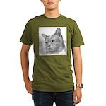 Burmese Cat Organic Men's T-Shirt (dark)