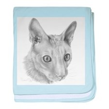 Cornish Rex Cat baby blanket