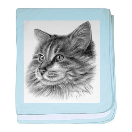Maine Coon Cat baby blanket