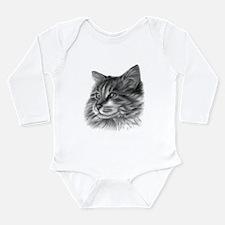 Maine Coon Cat Long Sleeve Infant Bodysuit