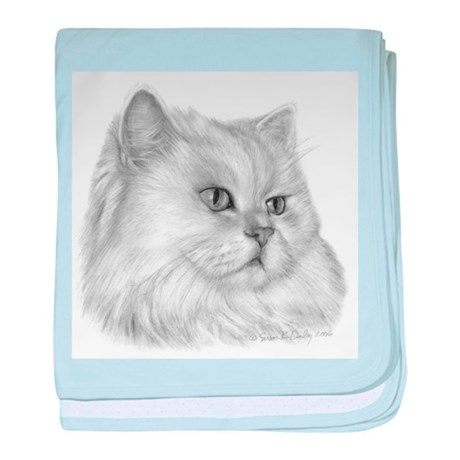 Persian Cat baby blanket