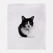 Tuxedo Cat Throw Blanket