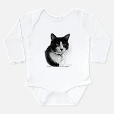 Tuxedo Cat Long Sleeve Infant Bodysuit
