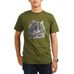 TG, Long-Haired Gray Cat Organic Men's T-Shirt (da
