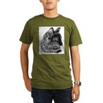 Tortoise Long-Hair Cat Organic Men's T-Shirt (dark