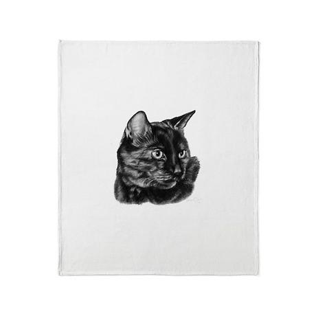 Tortoise Short-Hair Cat Throw Blanket