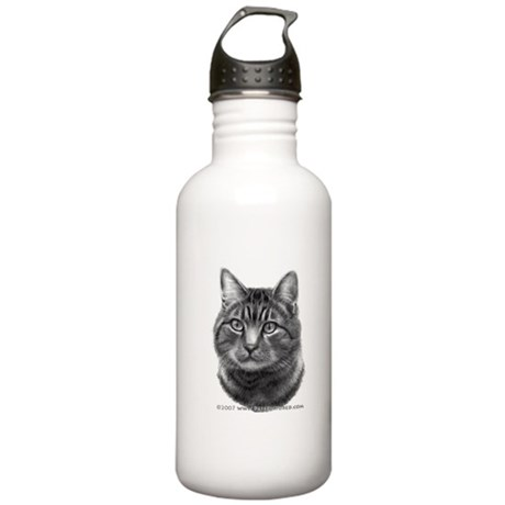 Tiger Cat Stainless Water Bottle 1.0L